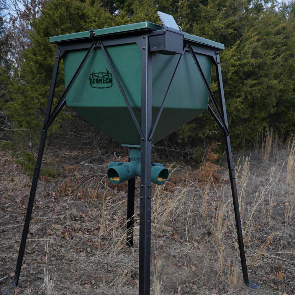 Redneck Blinds 750lb Fiberglass Gravity Feeder | Land And Deer Management